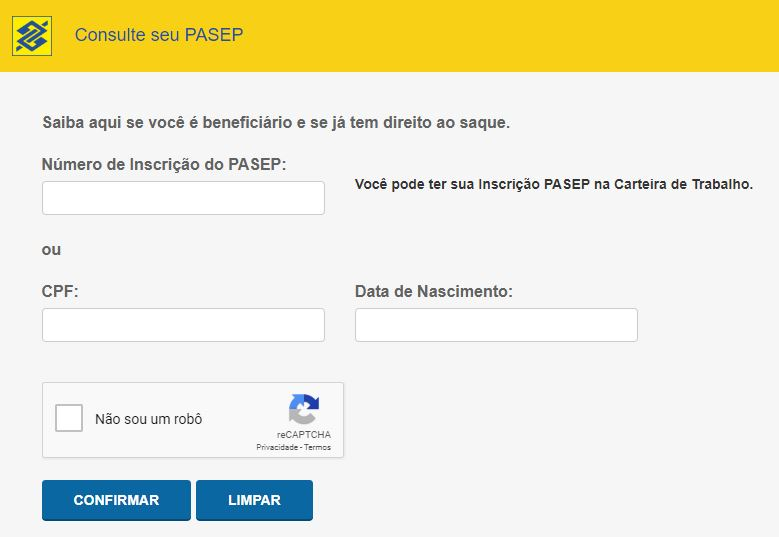Consulta PASEP