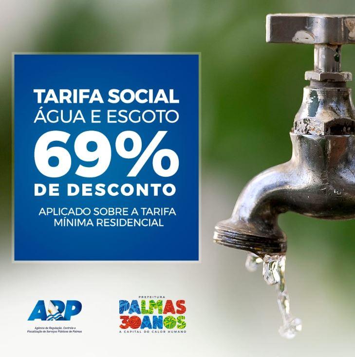 Descontos da Tarifa Social de Água